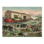 Ejemplo 1882 de los animales de la arca de Noahs d Tarjetas Postales