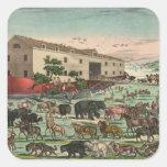 Ejemplo 1882 de los animales de la arca de Noahs Colcomanias Cuadradas