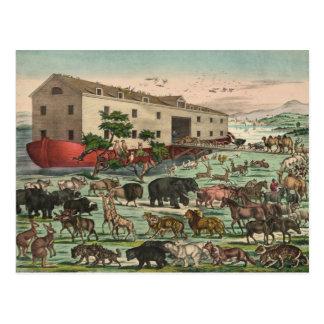 Ejemplo 1882 de los animales de la arca de Noahs Tarjetas Postales