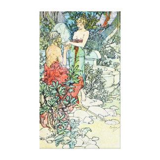 Ejemplo 1900 del vintage impresion de lienzo