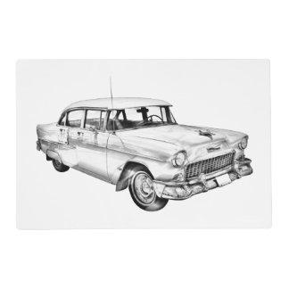 Ejemplo 1955 del coche antiguo del Bel Air de Tapete Individual