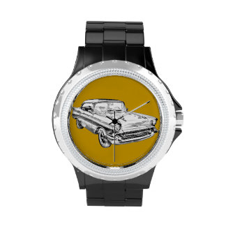 Ejemplo 1957 del Bel Air de Chevy Relojes