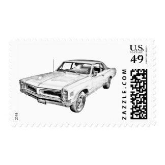 Ejemplo 1966 del coche de Pontiac Le Mans Sellos