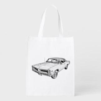 Ejemplo 1966 del coche del músculo de Pontiac Le Bolsas De La Compra