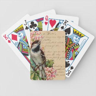 Ejemplo 2 del pájaro del Victorian Baraja