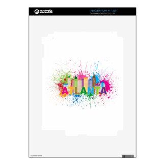 Ejemplo abstracto del horizonte de Atlanta Georgia iPad 2 Skin