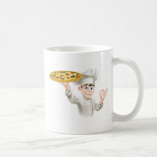 Ejemplo aceptable del cocinero de la pizza de la m tazas de café