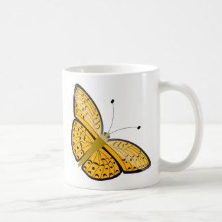 Ejemplo amarillo hermoso de la animación de la taza de café