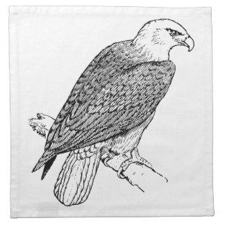 Ejemplo americano de Eagle calvo que se encarama