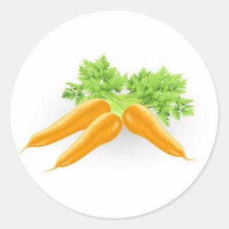 Ejemplo anaranjado sabroso fresco de las zanahoria etiquetas redondas