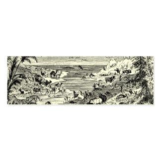 Ejemplo animal del paisaje de los 1800s del vintag tarjeta de negocio