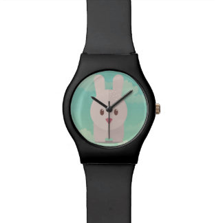 Ejemplo animal lindo del conejito de la decoración reloj de mano