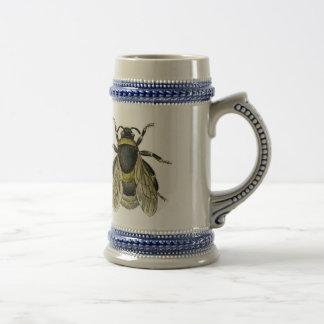 Ejemplo antiguo de la abeja tazas de café