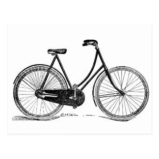 Ejemplo antiguo de la silueta de la bicicleta del  tarjetas postales