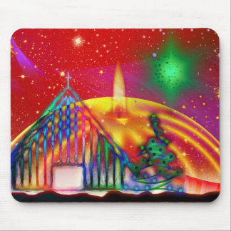 Ejemplo artístico colorido del navidad alfombrillas de ratones