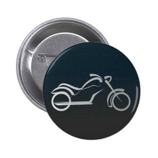 Ejemplo artístico de la silueta de la moto pin redondo de 2 pulgadas