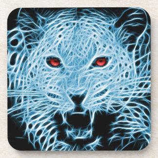 Ejemplo artístico del leopardo azul posavasos de bebidas