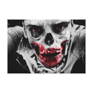 Ejemplo artístico del retrato del zombi lienzo envuelto para galerias