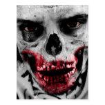 Ejemplo artístico del retrato del zombi tarjetas postales