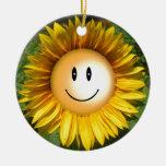 Ejemplo artístico sonriente del girasol ornamento para reyes magos