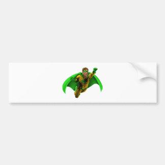 Ejemplo asombroso del super héroe pegatina de parachoque