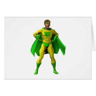 Ejemplo asombroso del super héroe tarjeta