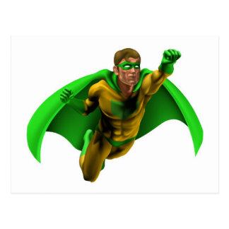 Ejemplo asombroso del super héroe tarjeta postal