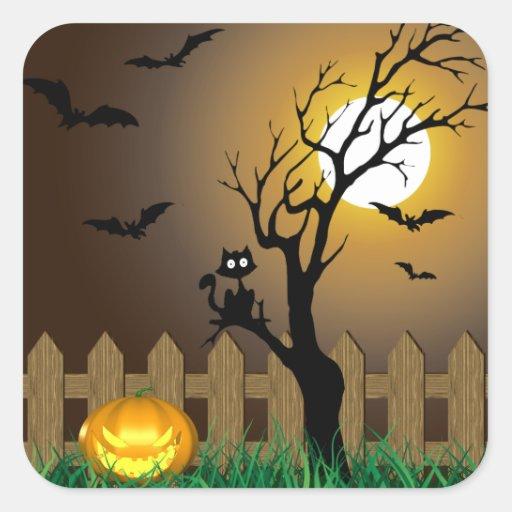Ejemplo asustadizo de Halloween - pegatina
