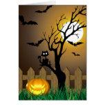 Ejemplo asustadizo de Halloween - tarjeta de