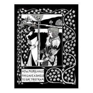 Ejemplo-Aubrey Beardsley 14 del Postal-Vintage Postales