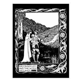 Ejemplo-Aubrey Beardsley 1 del Postal-Vintage Postales