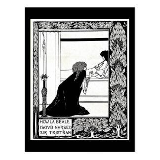 Ejemplo-Aubrey Beardsley 21 del Postal-Vintage Postal