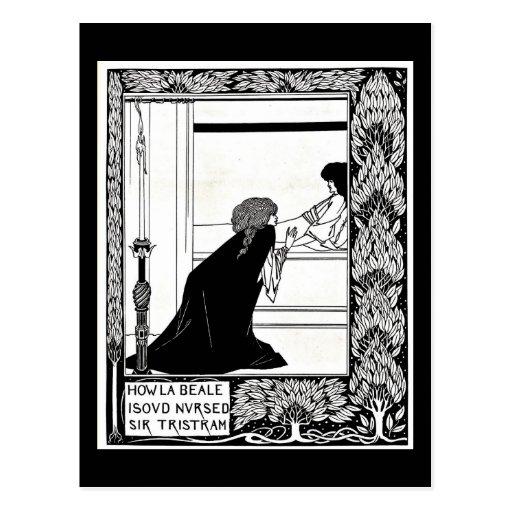 Ejemplo-Aubrey Beardsley 21 del Postal-Vintage