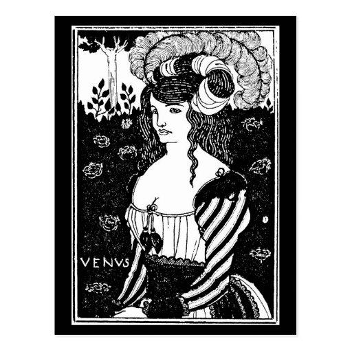 Ejemplo-Aubrey Beardsley 35 del Postal-Vintage