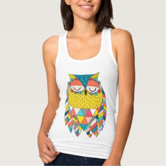 Ejemplo azteca de moda del búho del modelo de los playeras