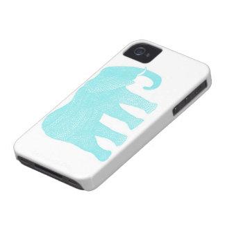 Ejemplo azul bohemio del caso de IPhone del iPhone 4 Fundas