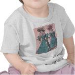 Ejemplo azul de la moda de los vestidos del camisetas