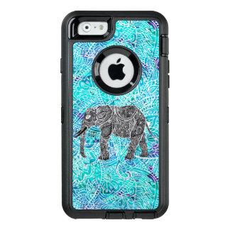 Ejemplo azul de la turquesa del elefante del boho funda otterbox para iPhone 6/6s
