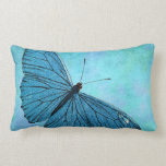 Ejemplo azul de los 1800s de la mariposa del cojines