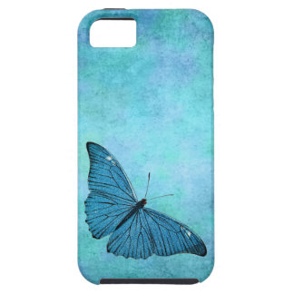 Ejemplo azul de los 1800s de la mariposa del trull iPhone 5 protector