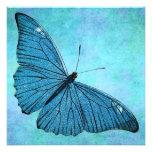 Ejemplo azul de los 1800s de la mariposa del trull anuncios personalizados