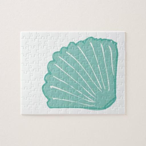 Ejemplo azul del Seashell de Tiffany Puzzles Con Fotos