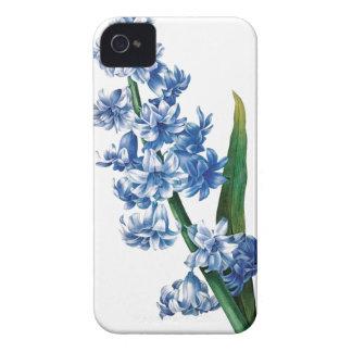 Ejemplo azul del vintage del jacinto iPhone 4 carcasa