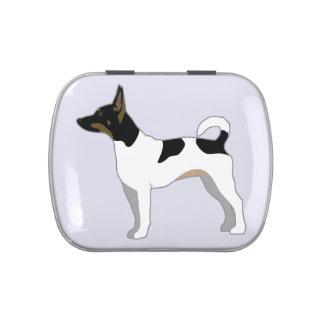 Ejemplo básico de la silueta de la raza de Terrier Jarrones De Caramelos