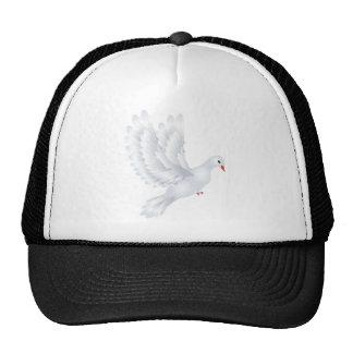 Ejemplo blanco de la paloma gorro