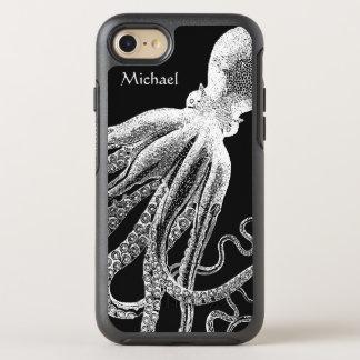 Ejemplo blanco negro de los tentáculos del pulpo funda OtterBox symmetry para iPhone 7
