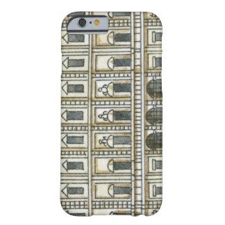 Ejemplo blanco y negro de la fachada del décimo oc barely there iPhone 6 case