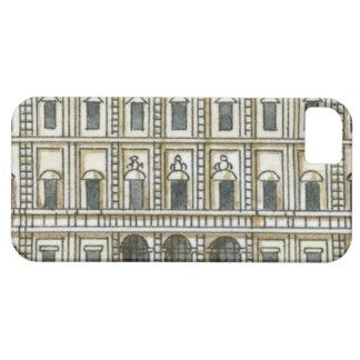 Ejemplo blanco y negro de la fachada del décimo oc iPhone SE/5/5s case