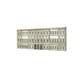 Ejemplo blanco y negro de la fachada del décimo oc lona envuelta para galerias