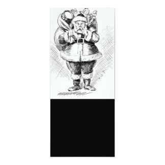 Ejemplo blanco y negro de Papá Noel Comunicados Personales